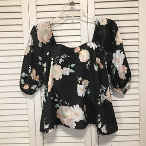 We Are Kindred Floral Satin Blouse Size 0